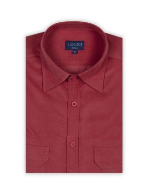 Germirli - Germirli Kiremit Kadife Tailor Fit Gömlek (1)
