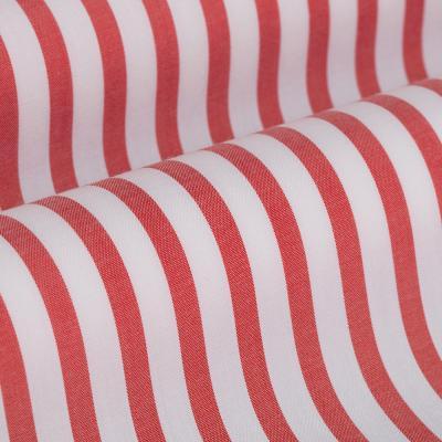 Germirli - Germirli Kiremit Kırmızı Beyaz Çizgili Düğmeli Yaka Tailor Fit Yoga Gömlek (1)