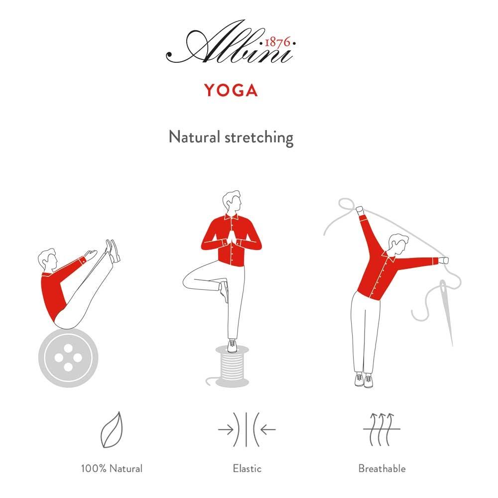Germirli Kiremit Kırmızı Beyaz Çizgili Düğmeli Yaka Tailor Fit Yoga Gömlek