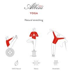 Germirli Kiremit Kırmızı Beyaz Çizgili Düğmeli Yaka Tailor Fit Yoga Gömlek - Thumbnail