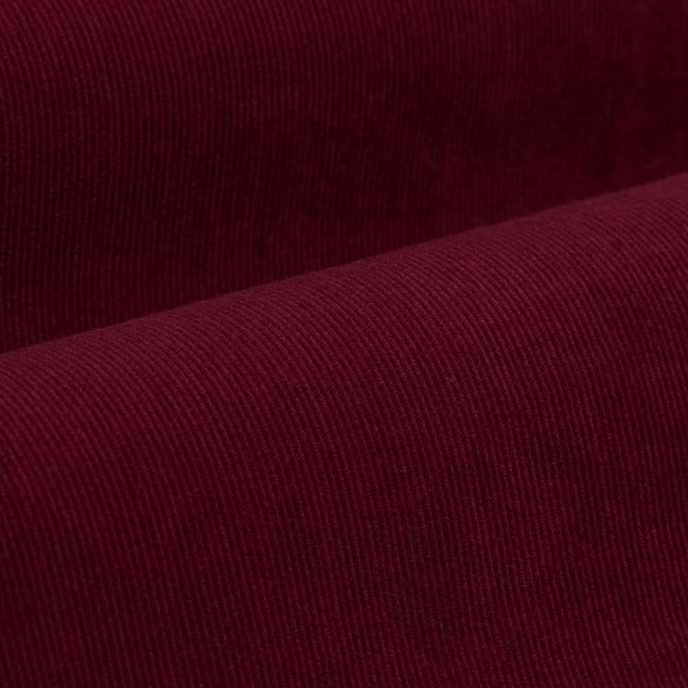 Germirli Kiremit Kırmızısı Kadife Düğmeli Yaka Tailor Fit Gömlek