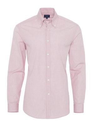 Germirli - Germirli Kırmızı Beyaz Kareli Tailor Fit Gömlek