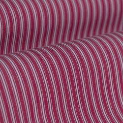 Germirli Kırmızı Çizgili Düğmeli Yaka Tailor Fit Gömlek - Thumbnail