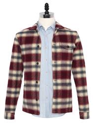 Germirli - Germirli Kırmızı Füme Kapitone Tailor Fit Ceket Gömlek