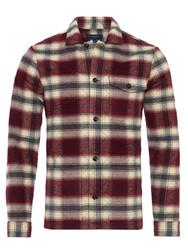 Germirli - Germirli Kırmızı Füme Kapitone Tailor Fit Ceket Gömlek (1)