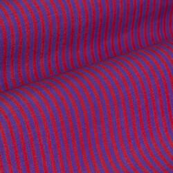 Germirli Kırmızı Mor Çizgili Düğmeli Yaka Tailor Fit Gömlek - Thumbnail