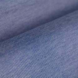 Germirli Koyu Mavi Klasik Yaka Örme Kısa Kollu Slim Fit Gömlek - Thumbnail
