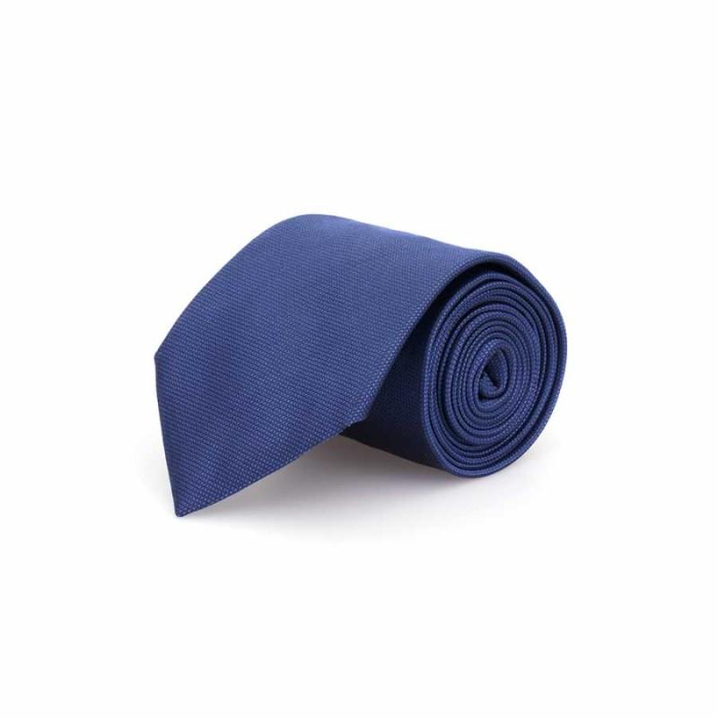 Germirli - Germirli Düz Havacı Mavi İpek Kravat