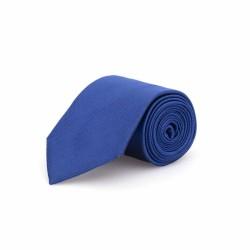 Germirli - Germirli Düz Parlament Mavi İpek Kravat