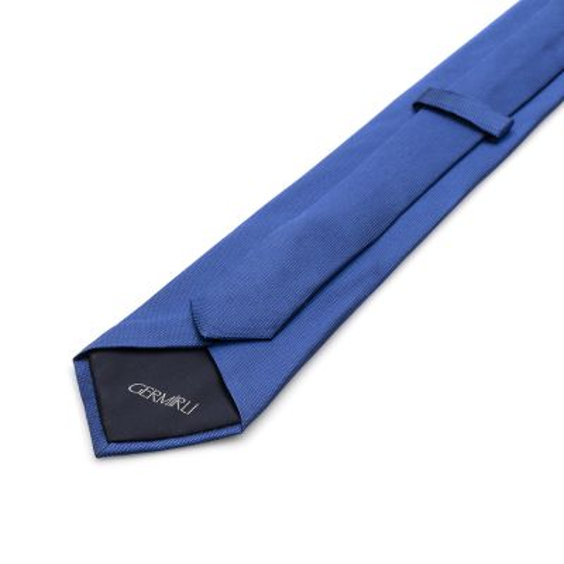 Germirli - Germirli Düz Parlament Mavi İpek Kravat (1)