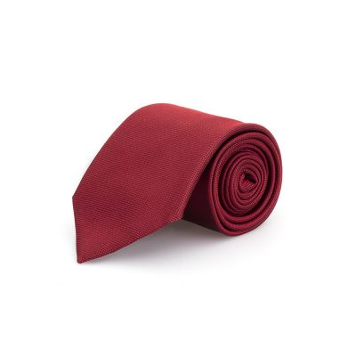 Germirli - Germirli Düz Kırmızı İpek Kravat