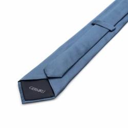 Germirli - Germirli Düz Gri Mavi İpek Kravat (1)