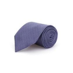 Germirli - Germirli Lacivert Mavi Noktalı İpek Kravat