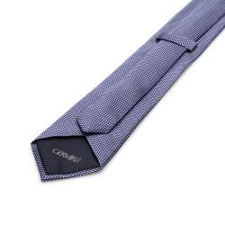 Germirli - Germirli Lacivert Mavi Noktalı İpek Kravat (1)
