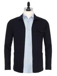 Germirli - Germirli Lacivert %100 Yün Tailor Fit Wool Heritage Ceket Gömlek