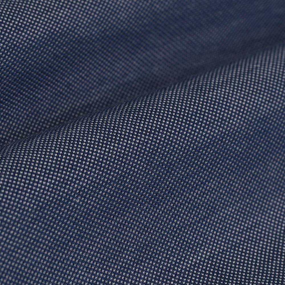 Germirli Lacivert Düğmeli Yaka Piquet Örme Slim Fit Gömlek