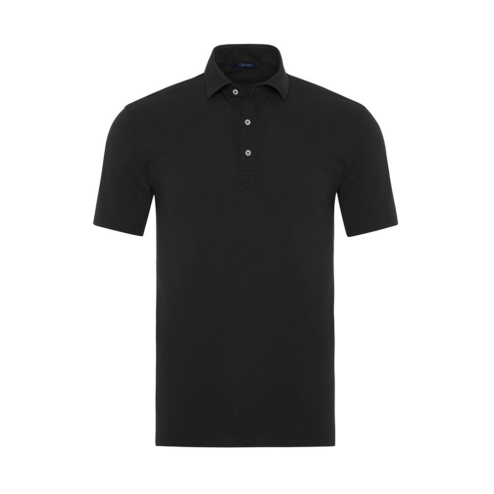 Germirli - Germirli Lacivert Gömlek Yaka Polo Vintage Tailor Fit T-Shirt
