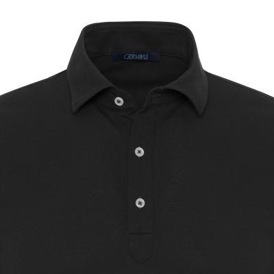 Germirli - Germirli Lacivert Gömlek Yaka Polo Vintage Tailor Fit T-Shirt (1)