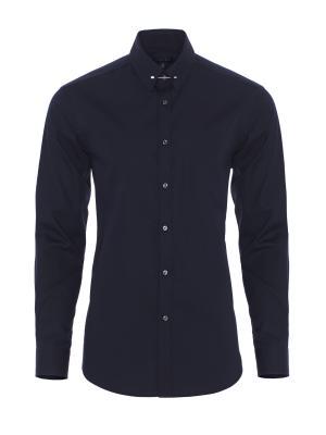 Germirli - Germirli Lacivert İğneli Yaka Tailor Fit Gömlek