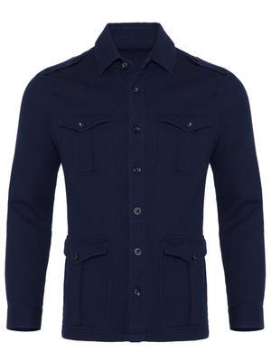 Germirli - Germirli Lacivert İndigo Tailor Fit Ceket Gömlek