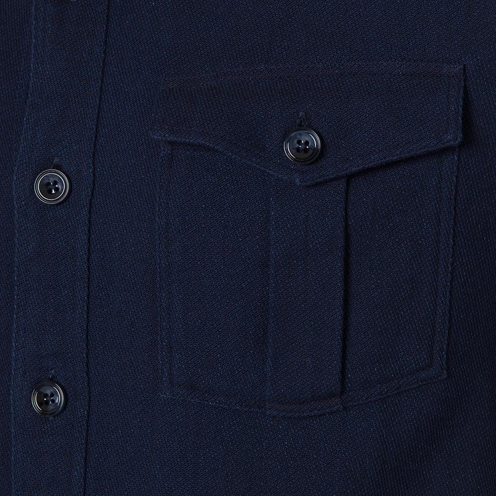 Germirli Lacivert İndigo Tailor Fit Ceket Gömlek