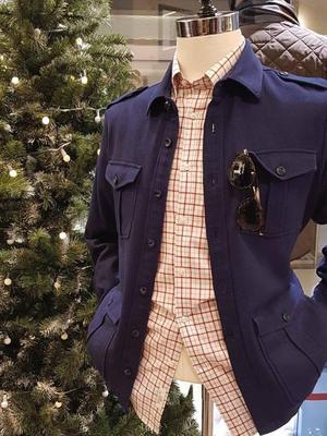 Germirli - Germirli Lacivert İndigo Tailor Fit Ceket Gömlek (1)