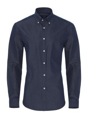 Germirli - Germirli Lacivert İndigo Tailor Fit Gömlek