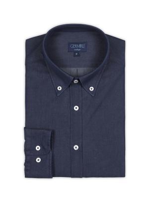 Germirli - Germirli Lacivert İndigo Tailor Fit Gömlek (1)
