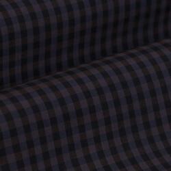 Germirli Lacivert Kahverengi Kareli Düğmeli Yaka Tailor Fit Gömlek - Thumbnail