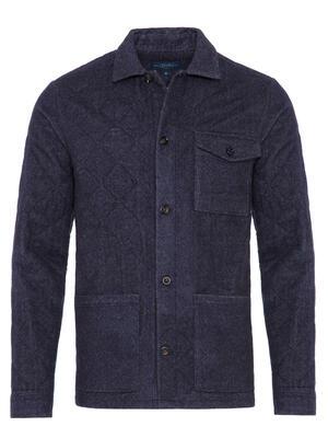Germirli - Germirli Lacivert Kapitone Tailor Fit Ceket Gömlek (1)