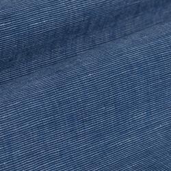 Germirli Çivit Mavisi Filafil Keten Tailor Fit Ceket Gömlek - Thumbnail