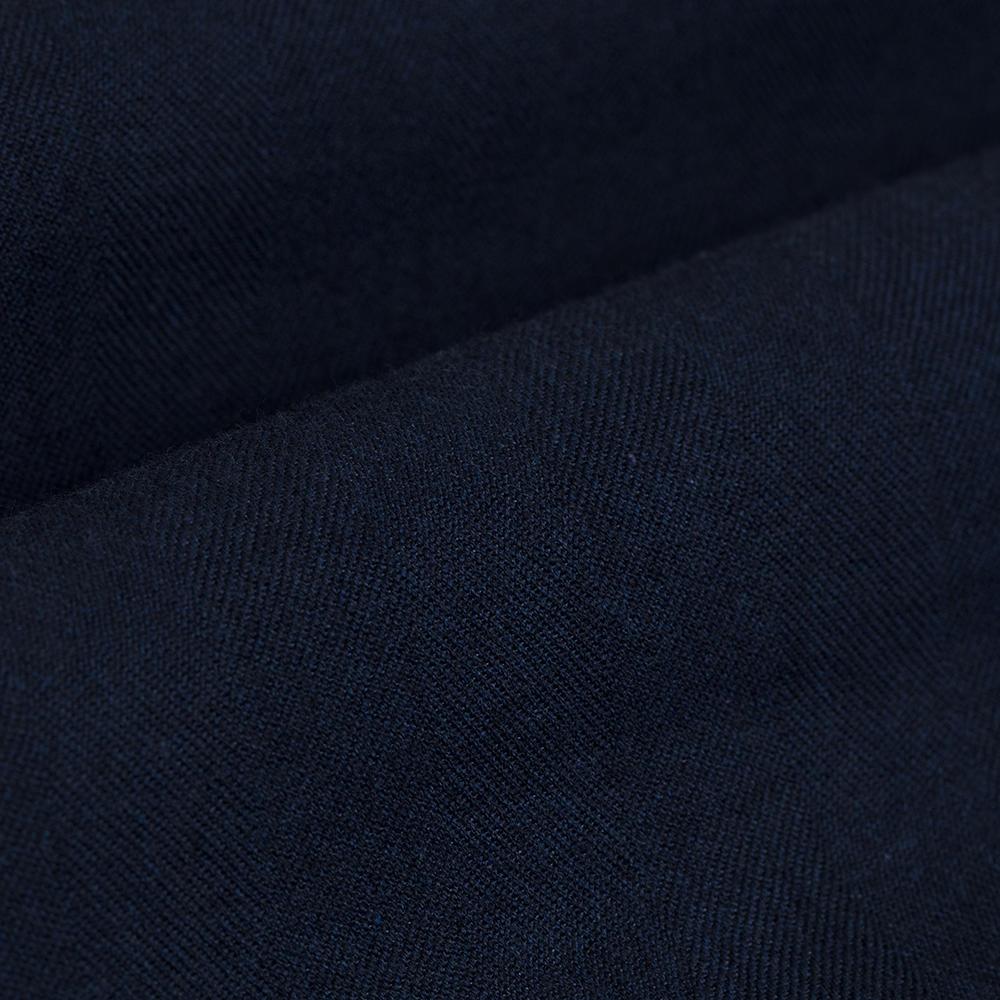 Germirli Lacivert Klasik Yaka Flanel Tailor Fit Overshirt Gömlek