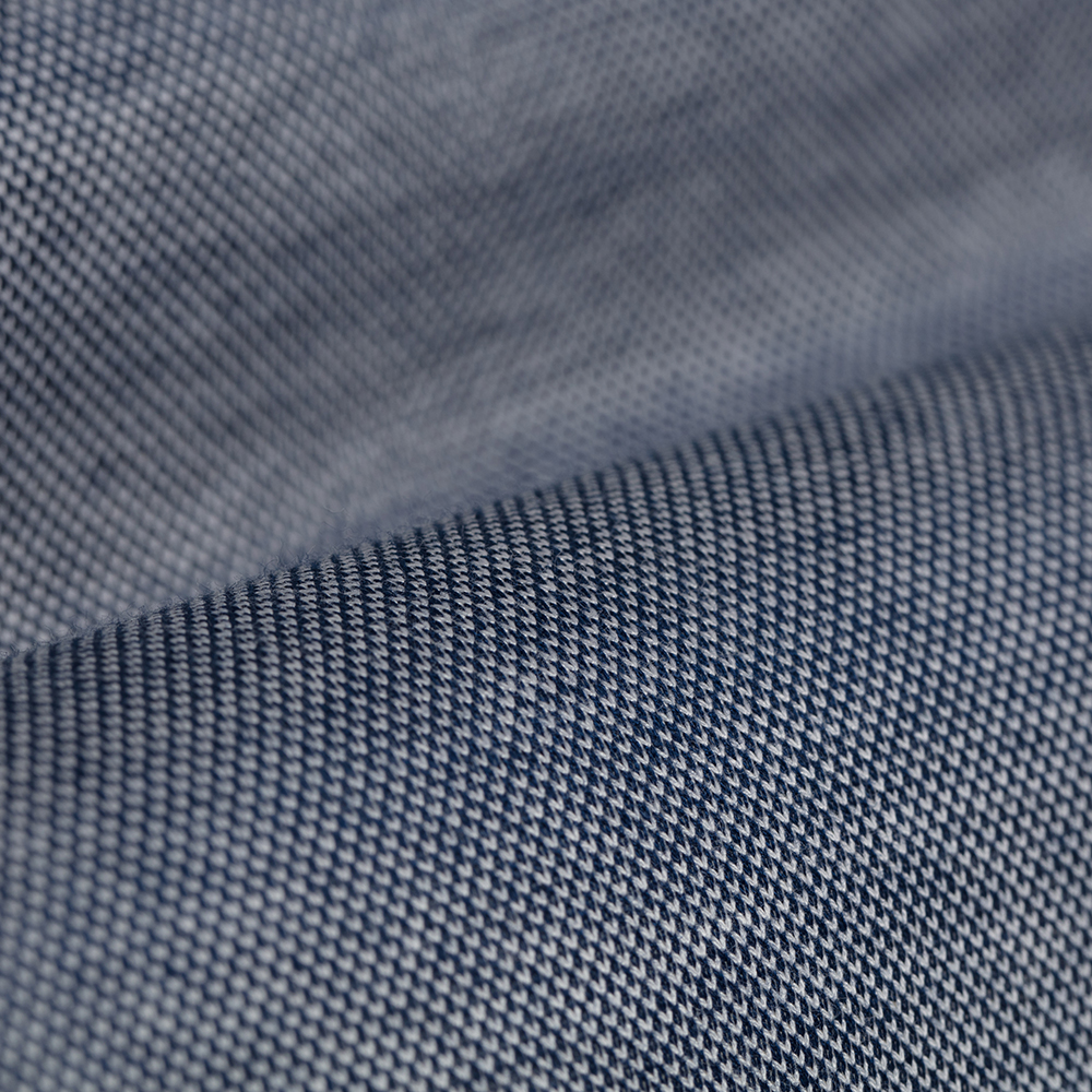 Germirli Lacivert Klasik Yaka Piquet Örme Tailor Fit Gömlek