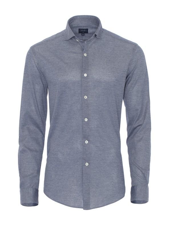 Germirli - Germirli Lacivert Klasik Yaka Slim Fit Gömlek