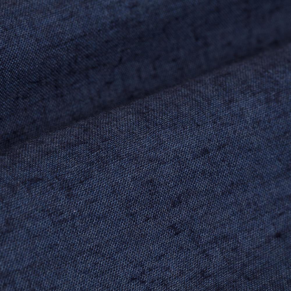 Germirli Lacivert Melange Düğmeli Yaka Flanel Tailor Fit Gömlek