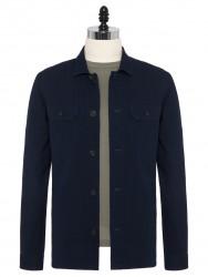 Germirli - Germirli Lacivert Yıkamalı Japon Denim Tailor Fit Ceket Gömlek