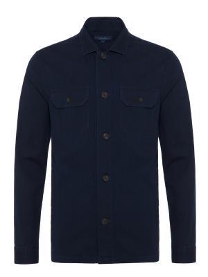 Germirli - Germirli Lacivert Yıkamalı Japon Denim Tailor Fit Ceket Gömlek (1)