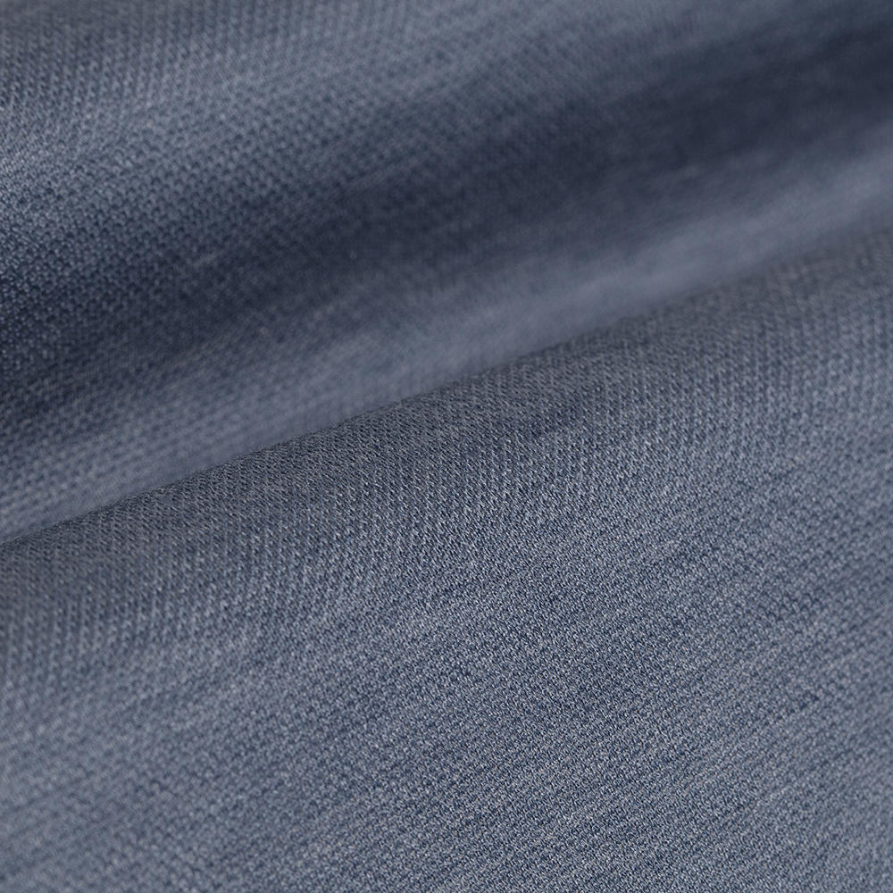 Germirli Light Blue Semi Spread Collar Piquet Knitting Slim Fit Shirt