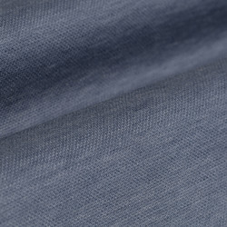 Germirli Light Blue Semi Spread Collar Piquet Knitting Slim Fit Shirt - Thumbnail