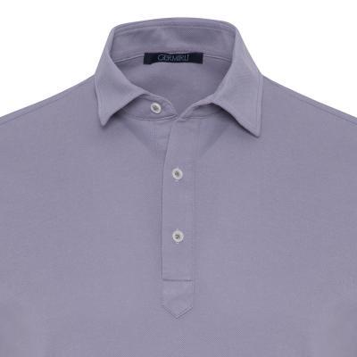 Germirli - Germirli Lila Gömlek Yaka Polo Tailor Fit T-Shirt (1)