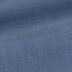 Germirli Mavi Balıksırtı Flanel Düğmeli Yaka Tailor Fit Gömlek - Thumbnail