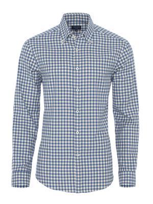 Germirli - Germirli Mavi Beyaz Kareli Flanel Tailor Fit Gömlek