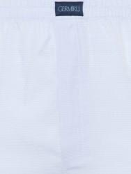 Germirli - Germirli Mavi Beyaz Piti Kareli Pamuk Boxer Şort (1)