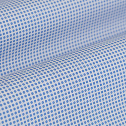 Germirli Mavi Beyaz Puanlı Gizli Pat Klasik Yaka Tailor Fit Gömlek - Thumbnail