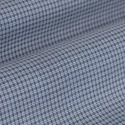 Germirli Mavi Küçük Desenli Düğmeli Yaka Tailor Fit Gömlek - Thumbnail