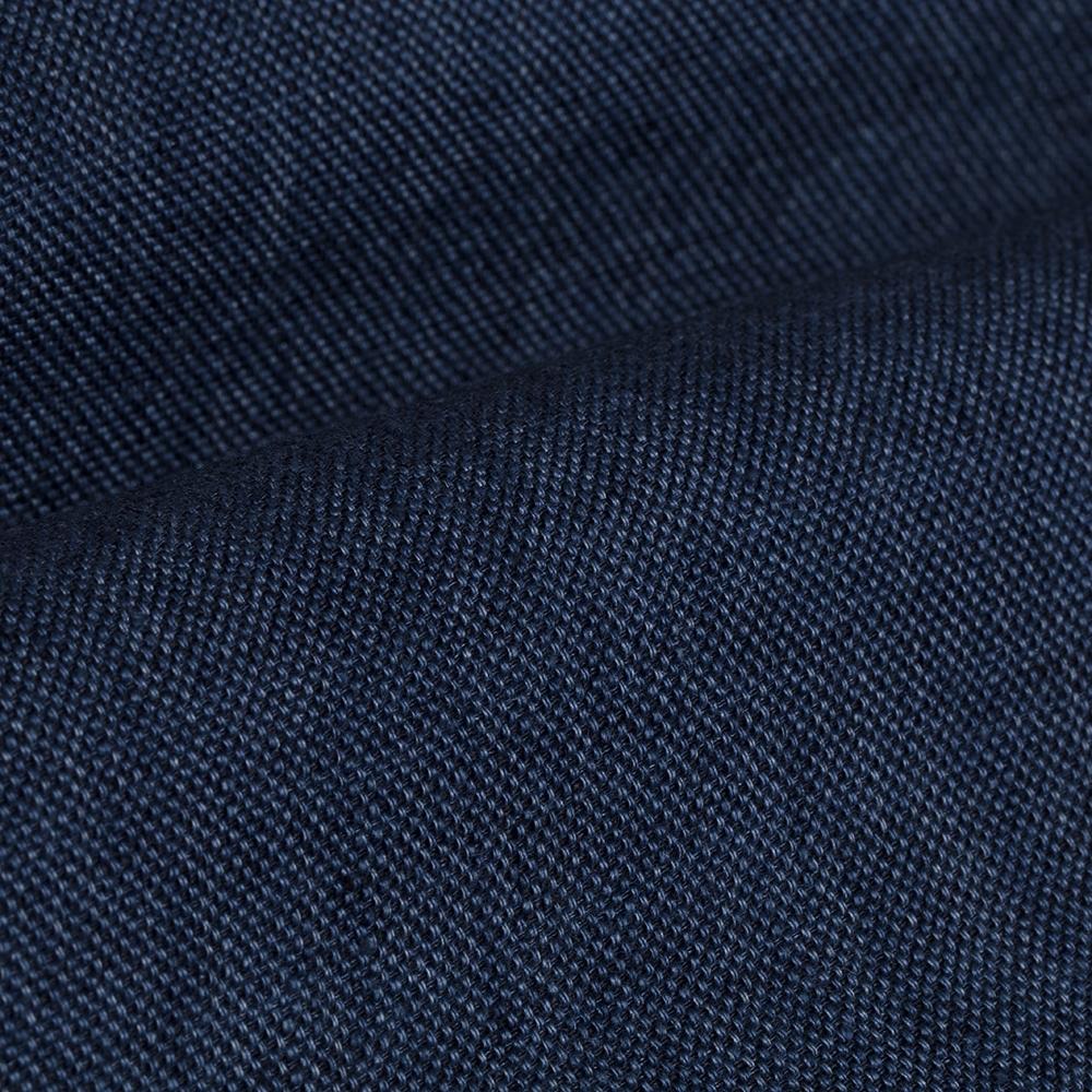 Germirli Mavi Dokulu Delave Keten Tailor Fit Safari Ceket Gömlek