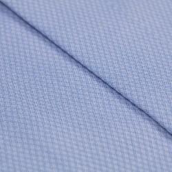 Germirli Mavi Dokulu Gizli Pat Klasik Yaka Tailor Fit Gömlek - Thumbnail