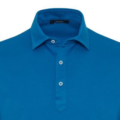 Germirli - Germirli Mavi Gömlek Yaka Polo Piquet Tailor Fit T-Shirt (1)