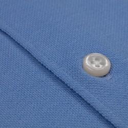 Germirli Mavi Italyan Yaka Örme Slim Fit Gömlek - Thumbnail