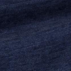 Germirli Mavi Keten Flanel Doku Düğmeli Yaka Tailor Fit Gömlek - Thumbnail